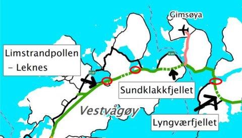 Statens Vegvesen har holdt på noen år med å planlegge ny E10 fra Fiskebøl til Å.