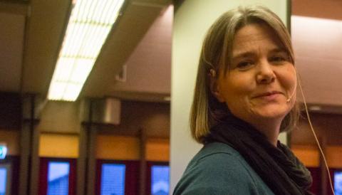 BUDSJETTSPREKK: Kerstin Eikeland måtte fortelle kommunestyret om om overskridelser for Helsehuset.