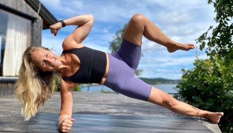 Treningsgründer: Annema Refsnes sier man kan gjennomføre en god treningsøkt med få og enkle øvelser. Nå har hun startet med onlinetrening.