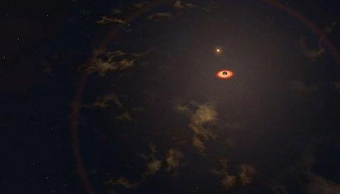 LYSGLIMT: Et gigantisk svart hull skal være årsaken til de mystiske lysglimtene.