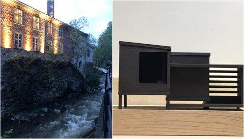 BYGGES: Denne badstuen skal stå klart ved siden av teglestenhuset i august.