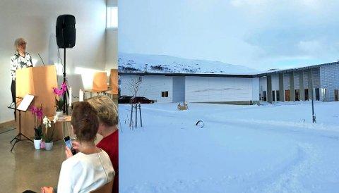 ÅPNET: Oprinnelig var det ordfører Kristin Røymo som skulle åpne Tromsøs nye krematorium. Da hun måtte melde avbud på grunn av sykdom, steppet Gunhild Johansen (SV), leder for helse- og velferdskomiteen, inn. Foto: Tromsø kommune