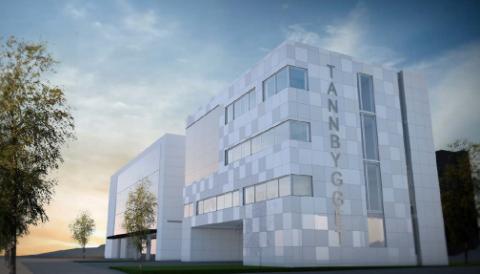TANN: Tannbygget i Tromsø skal utvides med fire etasjer. Peab Bjørn Bygg har vunnet anbudskonkurransen. Kostnaden for utbyggingen blir på 40 millioner før skatt.