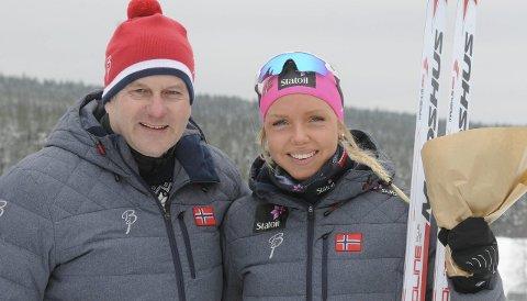 FLOTT FRAMTID: Skipresident Erik Røste er sikker på at Marte Mæhlum Johansen vil få en stor langrennskarriere. FOTO: ØYSTEIN RINGSVEEN