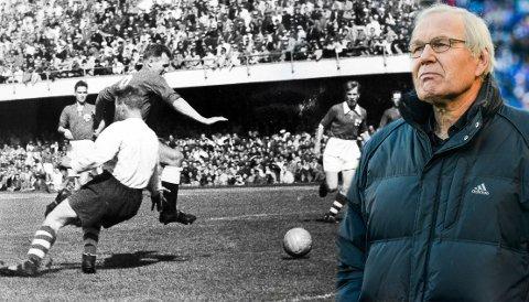 gunnar thoresen i landskamp mot finland 1954?