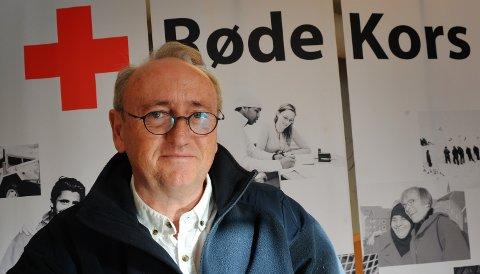 TAKKNEMLIG: Bjørn Hjalmar Andersen i Vestfold Røde Kors er takknemlig for alle som bidrar med penger gjennom Pantelotteriet.Foto: Per Gilding / TB