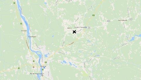 Ulykken skjedde på fylkesveg 545 i Hernes.