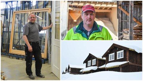 MÅ BETALE MER: Trond Skjærstad (til venstre) på Nyhuset Bruk og Ivar Grøndahl på Løten Bygdesag har lite godt å si om eiendomsskatten i Løten.