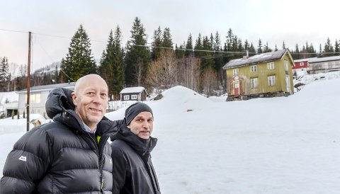 Tor Helge Nordvang fra Bolt (t.v.), som står bak Grebkøl Eiendom AS, er ikke skuffet over vedtaket i MPR-utvalget torsdag. Her sammen med John Erik Nygaard.