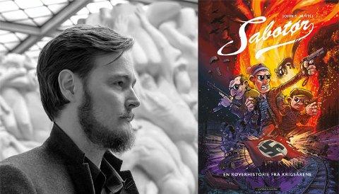"""""""Sabotør"""" er tegnet og skrevet av John S. Jamtli fra Rana, og er en fiktiv tegneseriehistorie i en virkelig setting."""