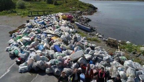 Også langs kysten av Nordland er det samlet opp mye søppel de siste årene, og det  viser kanskje igjen at engasjementet for å gi til tv-aksjonen er høy på kysten i Nordland.