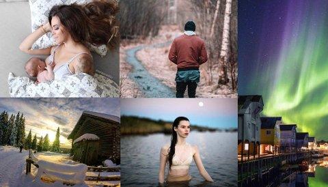 NORGES BESTE: Bildet nederst til venstre er tatt av Hans Edgard Rakeie fra Hønefoss, som nå konkurrerer med 100 andre om å bli Norges beste på Instagram. Fotomontasje: Nettavisen