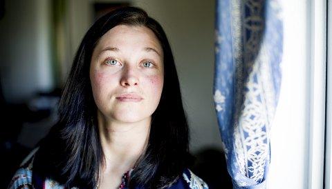 Lettet: Karina Kjeserud forteller at hun synes det er godt å vite at hennes tidligere kjæreste er dømt til forvaring etter at han forsøkte å drepe henne.