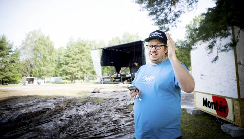 Ikke ferdig med festivalen: Festivalsjef Fredrik Østby trenger flere sponsorer om det skal bli noen Nebbenfestival neste år, og har allerede booket møter. ALLE FOTO: LISBETH LUND ANDRESEN