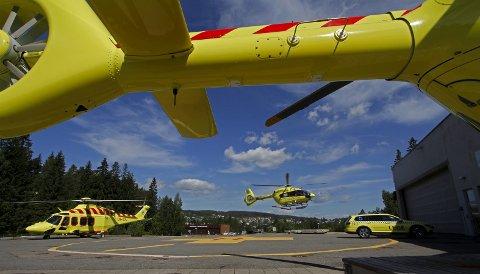 Nytt materiell: 15 splitter nye helikoptere av tre ulike typer og størrelser tas nå i bruk på Luftambulansetjenestens 12 baser rundt om i landet. Norsk Luftambulanse AS har nå inntil ti års kontrakt på hele helikoptertjenesten.Alle Foto: Hallgeir B. Skjelstad