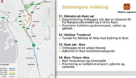 PLANENE: Fra Statens vegvesens presentasjon på informasjonsmøte.