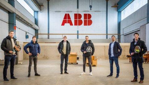 STORSATSING: Dette er alle som er med i satsingen i Sarpsborg. Fra venstre: Jan Kvalheim, Thor Hushovd, Bjørn Maaseide, Hubert Moen, Lars Petter Czwartek og Pål Andre Czwartek.