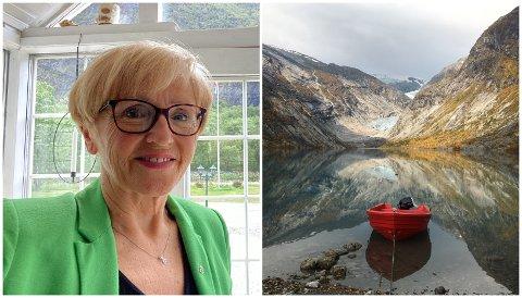 NYTT: Liv Signe Navarsete er styremedlem i det nyetablerte selskapet Orøyane AS i Flåm. I Jostedalen skal Brebåtane AS frakta folk til Nigardsbreen.