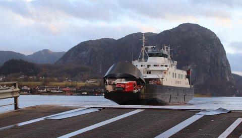 FÅR NYTT NAVN: Høgsfjord-sambandet skal etter nyttår trafikkeres av ferja «Bjørnefjord», som vil få det nye navnet «Preikestolen».