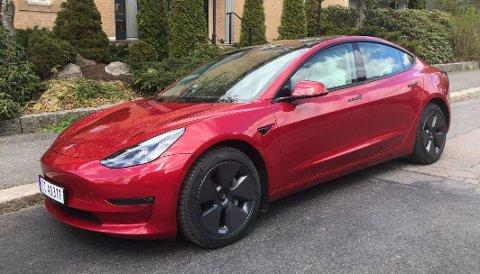 FORBEDRINGER: Tesla Model 3 har blitt bedre siden debuten på det norske markedet for drøye to år siden. Foto: ØIVIND A. MONN-IVERSEN