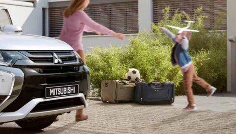 «VILLEDENDE OG URIKTIG»: Reklamemateriell for Outlanderen ble lagt frem i tingretten. Faksimile fra Mitsubishi Outlander-brosjyre