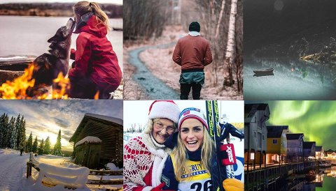 Noen av kandidatene som kan bli Norges beste på Instagram.