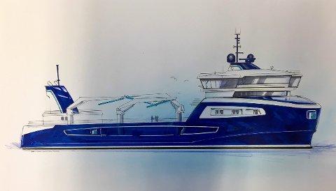 Brønnbåten «Gåsø Odin» er designet av Møre Maritime i Kristiansund og bygges i Tyrkia for Frøygruppen.