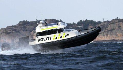 Politibåten var på oppdrag i går kveld og natt til søndag. Arkivfoto