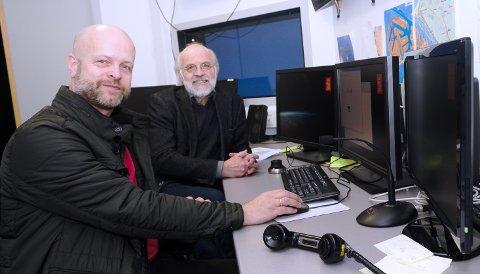 SAMARBEID: - Fra vår side handler det om et tett samarbeid med næringslivet for en autonom framtid, forteller spesialrådgiver Paal Amaas (t.v.) og rektor Petter Aasen ved HSN, - Høgskolen Sørøst-Norge.