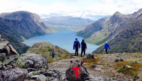 37 prosent av Norges befolkning har tenkt seg til fjells i sommer. Her fra Jotunheimen.
