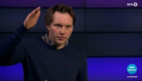 KLAR TALE: Ola Lie B. Husby debatterte lønnsnivået til den norske bonden i Debatten på NRK 1. Gudbrandsdølen hylles i sosiale medier etter TV-opptredenen.