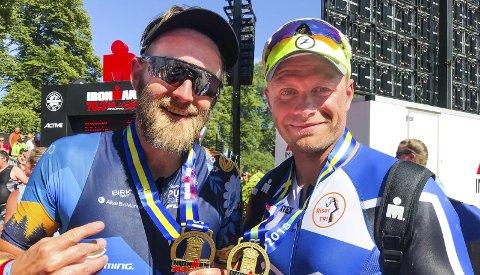 IRONMAN 70.3: Brødrene Stein Tore Foss og Preben Foss gjennomførte IRONMAN 70.3 i Jönköping denne helgen.