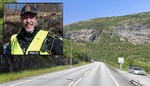 STORFANGST: Då Up hadde fartskontroll på E39 ved Masfjordtunnelen i Masfjorden, måtte mange punge ut. Fire førarar mista også førarkortet. Politioverbetjent Frode Leif Thraning seier at det gjekk veldig fort på samtlege som vart tatt.