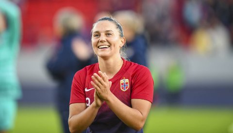 Vilde Bøe Risa har 33 A-landslagskamper for Norge.  Nå nærmer hun seg den engelske gigantklubben Manchester United.