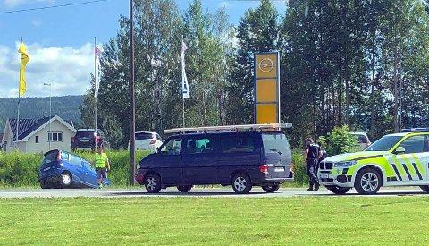 Her endte ferden for bilføreren i Hokksund.