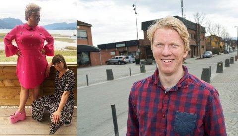 NYE SKO: Ola Kvale i Partum Eiendom kjøpte crocsene til Else Kåss Furuseth på TV-aksjonen søndag.