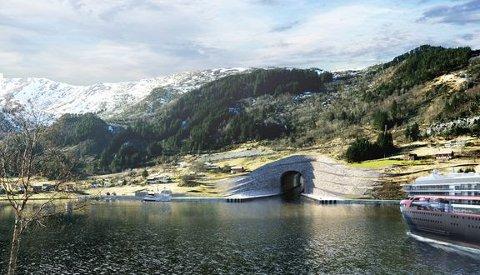 TUNNEL: – Stadhavet er eit av dei mest vêrutsette områda langs norskekysten. Med ein tunnel vil vi betre tryggleiken til sjøs, seier samferdselsminister Knut Arild Hareide.