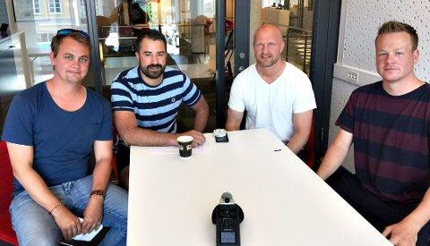 Jonas Pedersen, Kristian Bolstad, Joacim Jonsson og André Solvang diskuterer årets sesong i lokalfotballen.