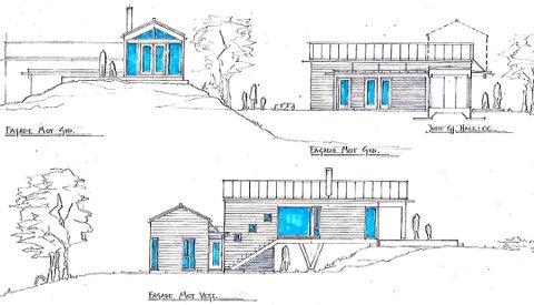 Omstridt hytte: Sivilarkitekt Tom Richard Kristiansen har tegnet hytta i Vikerveien på Gressvik. Nå er naboene og utbyggeren uenige om hvor høy hytta skal bli.
