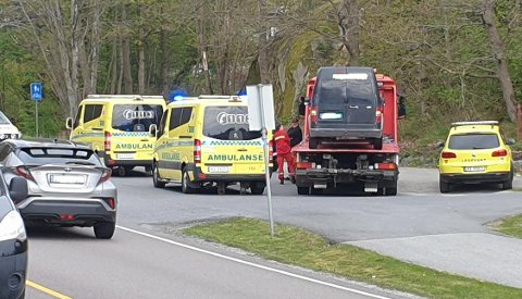 Det var torsdag ettermiddag trafikkulykken inntraff ved Kråkerøy kirke.