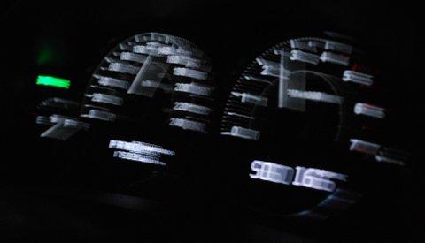 VISTE FEIL: Speedometeret kan ha vist feil da en bil holdt 129 km/t i gjennomsnittsfart over 2,5 kilometer.  Normalt ville det kostet bilføreren førerkortet.