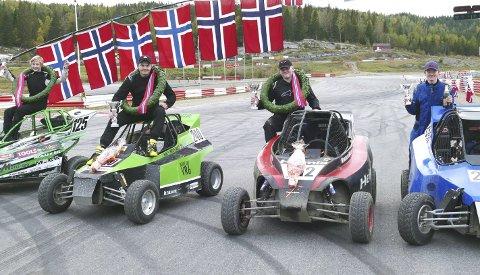 MEDALJER: Sindre S. Trøyterud (t.v.), Mats Brustad, Nikolai Haldammen og Jon Arne Aas Weberg.
