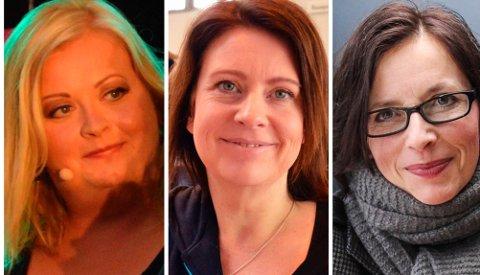 KVINNER FRA GJØVIK: Tre kvinner fra Gjøvik er blant søkerne til stillingen som kultursjef. F.v. Mari Cathrine Brostuen Hagen, Marianne Aashaug og Unni Heimdal.