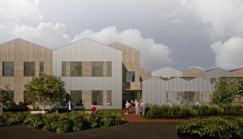 BYGGER NYTT: Slik ser arkitektene for seg at det nye sykehjemmet i Skudenehavn skal se ut.