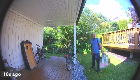UBEHAGELIG: Ben Miklozek ble bekymret for naboene da han så hva som fant sted i bakgården mens han selv var på ferie.
