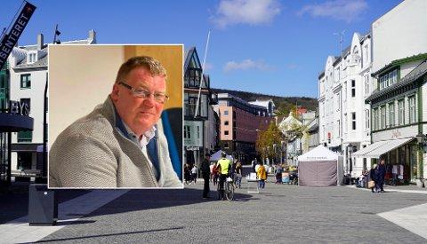 VIL MARKEDSFØRE: I forbindelse med implementering av en gavekort-løsning har Harstad Sentrum AS søkt midler fra Harstad Næringsfond til markedsføring. Kommunedirektør Hugo Thode Hansen synes ikke de nådde helt opp.