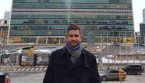 TILKNYTTET FNS SIKKERHETSRÅD: Trym Oust Sonstad (38) fra Åsen fikk i august i fjor ny jobb tilknyttet FNs sikkerhetsråd.