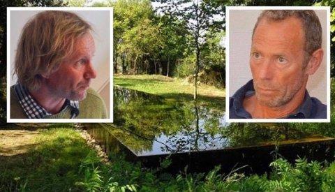 PRINSIPPAVGJØRELSE: Per-Erik Schulze (t.v.) står fast på at Ivar Tollefsen ikke burde få lov til å bygge et 77 kvadratmeter stort svømmebasseng på Tåtøy.