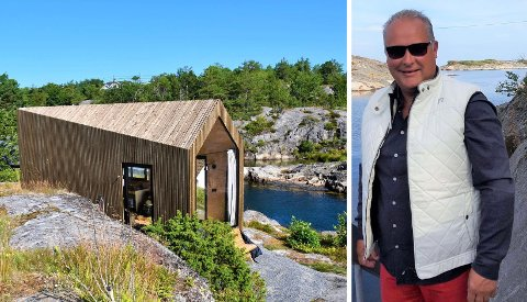 PÅ PLASS: Flere har allerede prøvd ut overnatting i Vju-hyttene. Odd Anders Repshus forteller at det nye tilbudet er blitt godt mottatt.