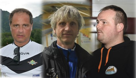 KLARE: Terje Hansen, Petter Solli og Ivan Myklebust ser frem til å ta fatt på sesongens andre halvdel.